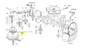 Castel Garden NJ92 NJR92 Transmission Drive Belt Geared Models From 2007 Rep  135062012/0, 135062018